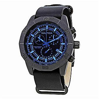 Nautica men's watch Chrono NAD17524G wristwatch leather