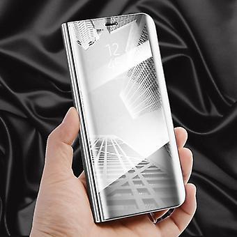 Clear View Spiegel Mirror Smartcover Silber für Huawei P20 Pro Schutzhülle Cover Etui Tasche Hülle Neu Case Wake UP Funktion