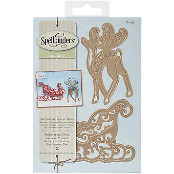 Spellbinders Shapeabilities Dies-Reindeer And Sleigh