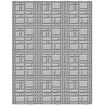 Spellbinders Embossing Folder Small-Gridiron