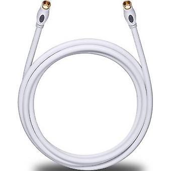Antennas, SAT Cable [1x F plug - 1x F plug] 7.50 m 120 dB gold plated connectors White Oehlbach Transmission Plus S
