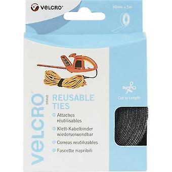 VELCRO® VEL-EC60254 Hook-and-loop cable tie for bundling Hook and loop pad (L x W) 5000 mm x 30 mm Black 1 Rolls