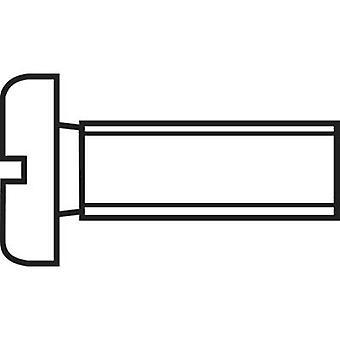 TOOLCRAFT 888013 Inbusschrauben M1.2 6 mm Schlitz DIN 84 ISO 1207 Stahl Zink vernickelt 20 PC