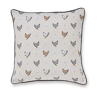Cooksmart Farmers Kitchen Cushion, Cream 45 x 45cm
