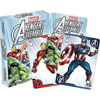 Avengers Assemble Youth Set Of 52 Playing Cards (+ Jokers) (52354)