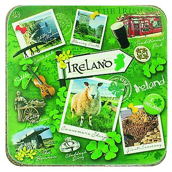 Ireland Cork Backed Drinks Coaster Irish Landmarks (03779)