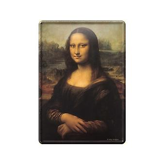 Mona Lisa Metal Postcard / Mini-Sign
