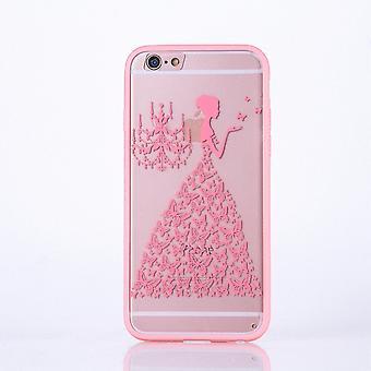 Mandala di Mobile Shell per Samsung Galaxy S6 Custodia cover motivo farfalla donna copertina borsa paraurti di design rosa
