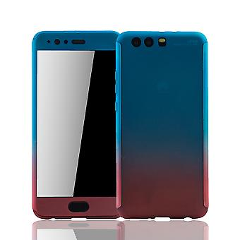 Huawei P10 plus mobile case protection-case full cover tank protection glass blue / red