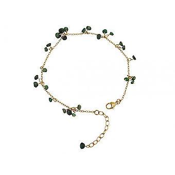 Emerald armband groen smaragd armband verguld