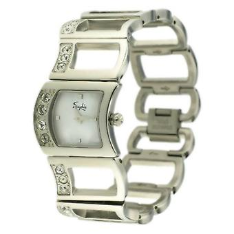 Silver Saphir Ladies Watch Wave Stones Small Classy Analogue Watches RRP £155