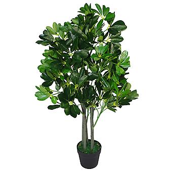 95cm Umbrella Tree Dark Green Artificial Ficus Plant