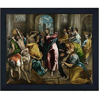 Med ram The Purification of the temple,El Greco,61x51cm