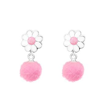 Flower - 925 Sterling Silver Colourful Ear Studs - W37167x