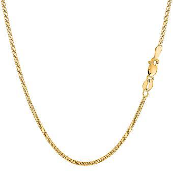10 k Gelb Gold Raclette-Kette Halskette, 1,5 mm
