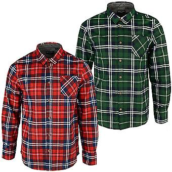 Brave Soul Mens Albert Brushed Check Checkered Casual Long Sleeve Cotton Shirt