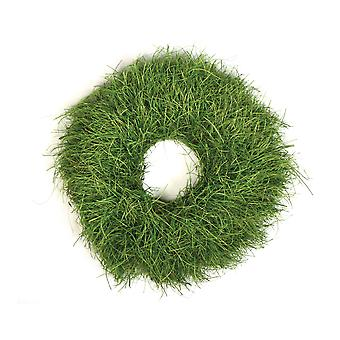 19cm Green Grass Look Fibre Wreath Base for Crafts & Floristry