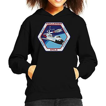 NASA STS 6 Space Shuttle Challenger Mission Patch Kid's Hooded Sweatshirt
