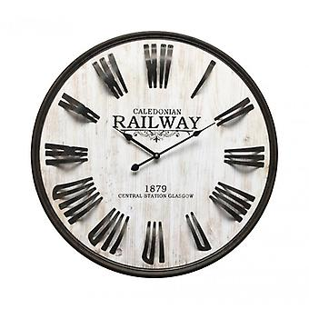 Decorative Clock Light Grey Industrial-Style Mobile Re6150-Rebecca