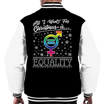 Tutto quello che voglio per Natale è Varsity Jacket uguaglianza maschile