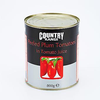 Country Range Peeled Plum Tomatoes in Tomato Juice