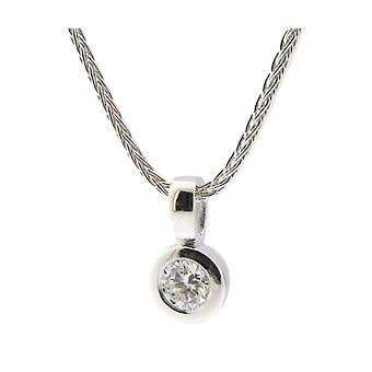 Atelier Christian white gold pendant with diamond