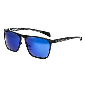 Breed Capricorn Titanium Polarized Sunglasses - Black/Blue