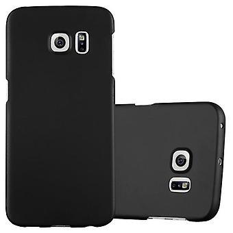 Cadorabo Hülle für Samsung Galaxy S6 EDGE - Hardcase Handyhülle im Matt Metal Design - Schutzhülle Bumper Back Case Cover