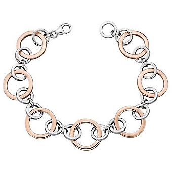 Elements Silver Multi Link Bracelet - Silver/Rose Gold