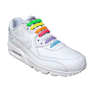 Multi Colour Kids Easy No Tie For Trainers