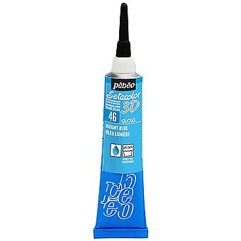 Pebeo Setacolor 3D Gloss Fabric Paint 20ml - 46 Bright Blue