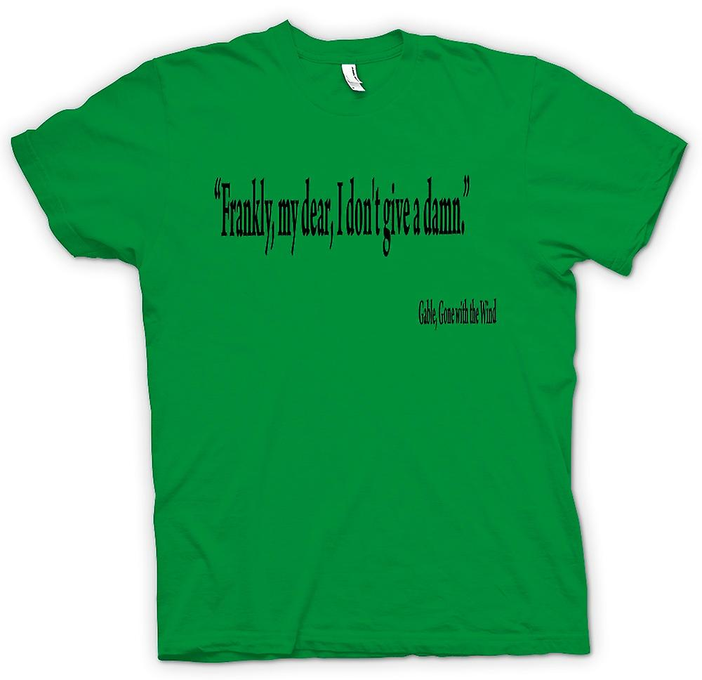 Mens T-shirt-Gone with the Wind - Gable