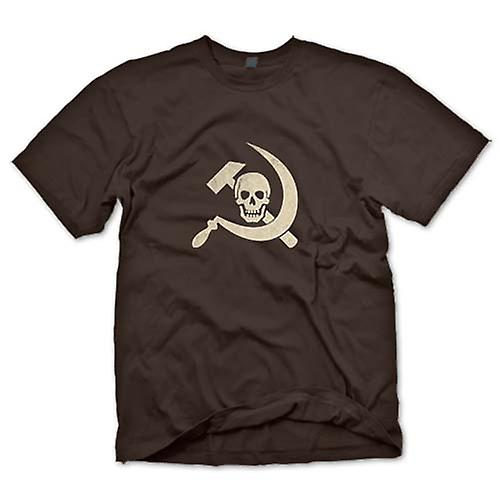 Mens T-shirt - Russian Hammer & Sickle With Skull