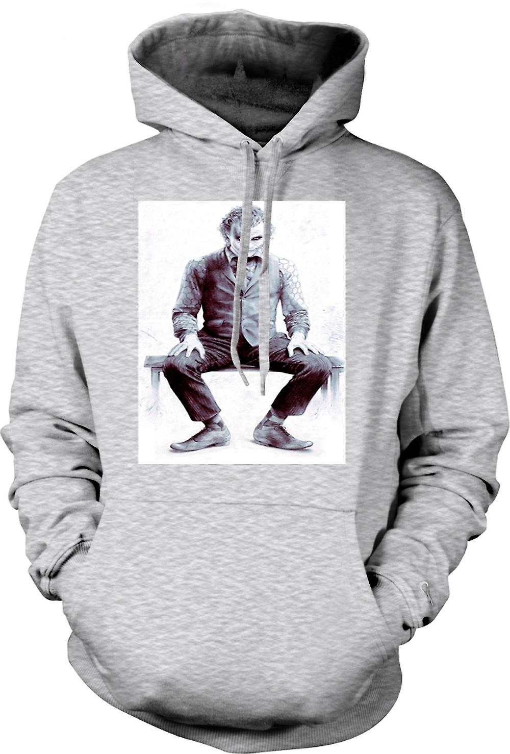 Mens-Hoodie - Sitting Joker - Batman