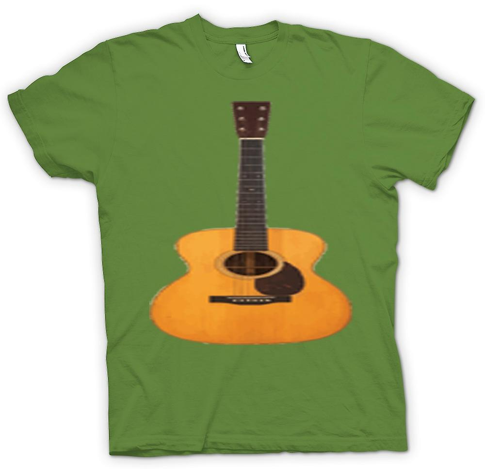 Hommes T-shirt - Acoustic Guitar Rock & Roll