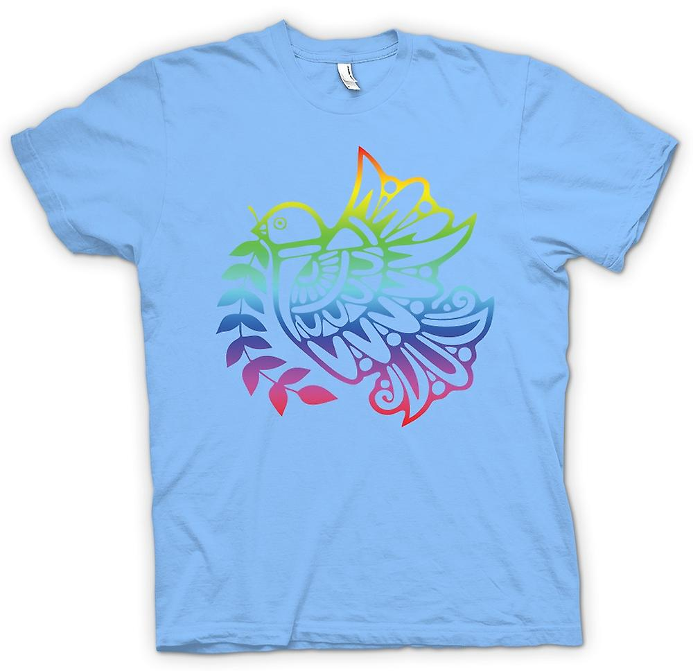 Heren T-shirt - vrede Dove Rainbow - Cool