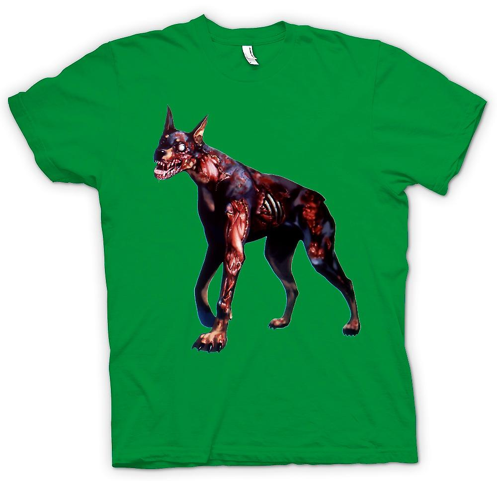 Mens T-shirt - I Love Zombie Dogs