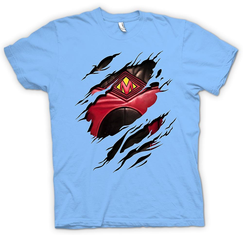 Mens T-shirt - Red Mist Ripped Design - Kickass Inspired Superhero