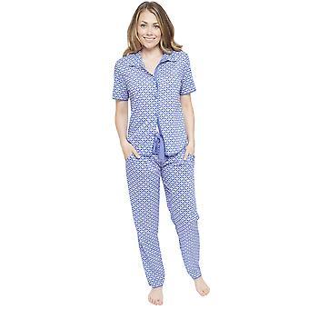 Cyberjammies 4107 Frauen Isla blau Fliese Pyjama Pant