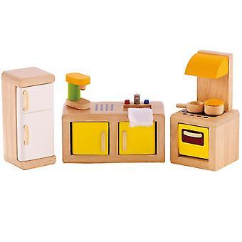 Jeu d'imitation enfant jeux jouets Cuisine pour maison de poupée 0102104