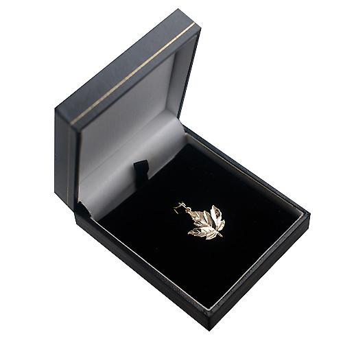 9ct Gold 22x19mm massief Maple Leaf charme
