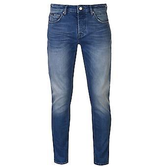 Firetrap Mens Blackseal ljus tvätta Jeans