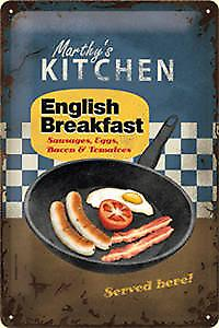 English Breakfast embossed steel sign 2030