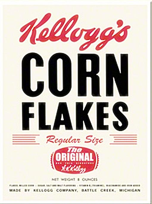Kelloggs Corn Flakes (old packet) steel fridge magnet   (na)