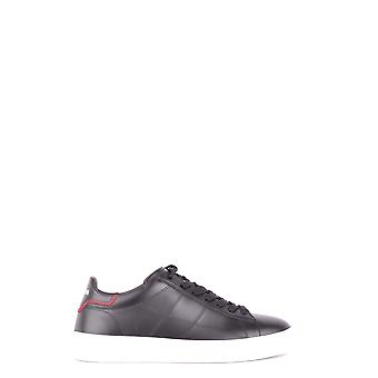 Hogan Black Leather Sneakers