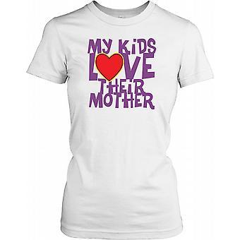 I miei ragazzi amano la loro madre - Cool madri giorno Ladies T Shirt