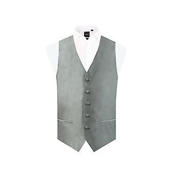 Dobell Boys Silver Dupion Waistcoat Regular Fit