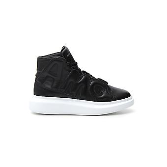 Alexander Mcqueen Black Leather Hi Top Sneakers