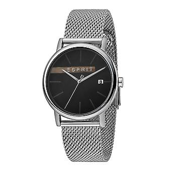 Esprit ES1G047M0055 Timber Black Silver Mesh Herrenuhr