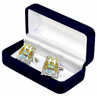 Manchester City FC Crest Cufflinks in presentation box (spg)